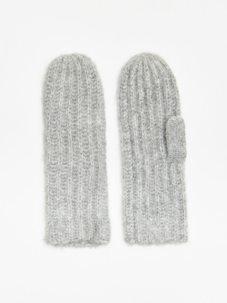 Рукавички з одним відділенням для великого пальця - СВІТЛО-СІРИЙ - WD992-09M - Cropp - 1