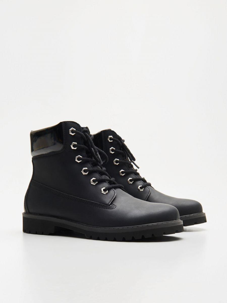 Трекінгові черевики на шнурівці - ЧОРНИЙ - WE898-99X - Cropp - 3