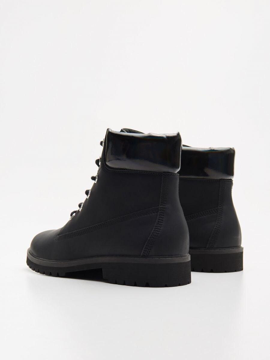 Трекінгові черевики на шнурівці - ЧОРНИЙ - WE898-99X - Cropp - 4
