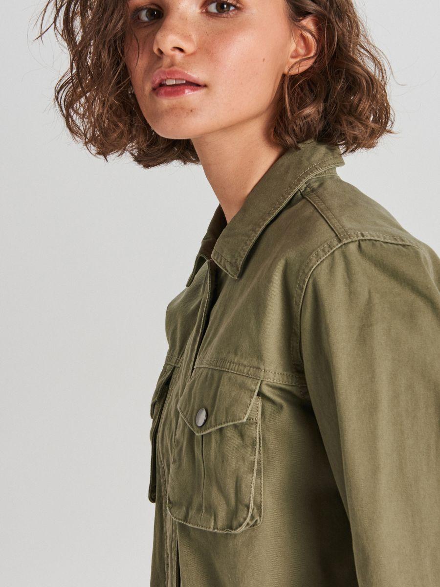Куртка з накладними кишенями - ХАКІ - WG327-78X - Cropp - 3