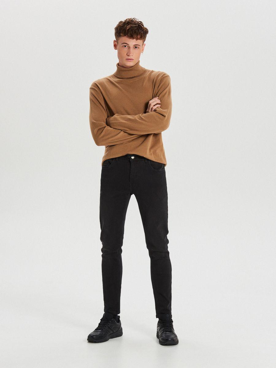 Приталені джинси з еластичним поясом - ЧОРНИЙ - WP398-99J - Cropp - 1