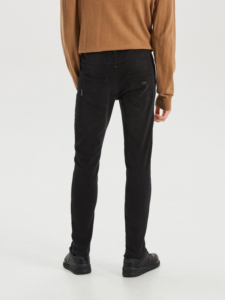 Приталені джинси з еластичним поясом - ЧОРНИЙ - WP398-99J - Cropp - 5