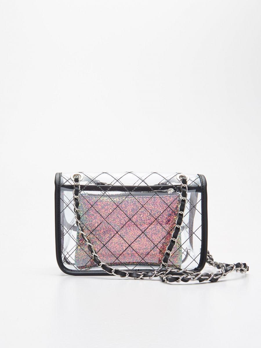 Прозора сумка з косметичкою - БАГАТОБАРВНИЙ - WX238-MLC - Cropp - 3