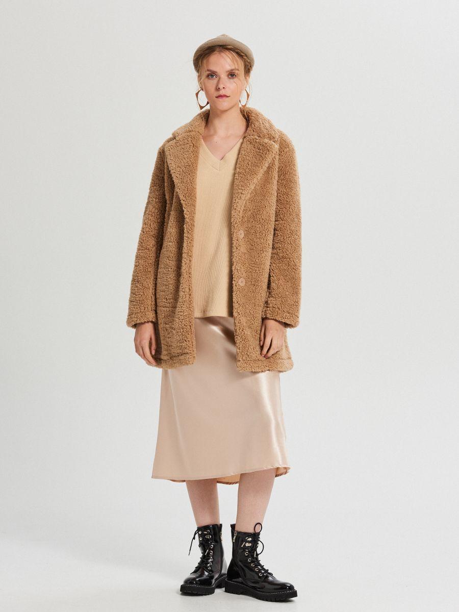 Блузка oversize з рукавами-дзвониками - БІЖОВИЙ - XD383-12X - Cropp - 1
