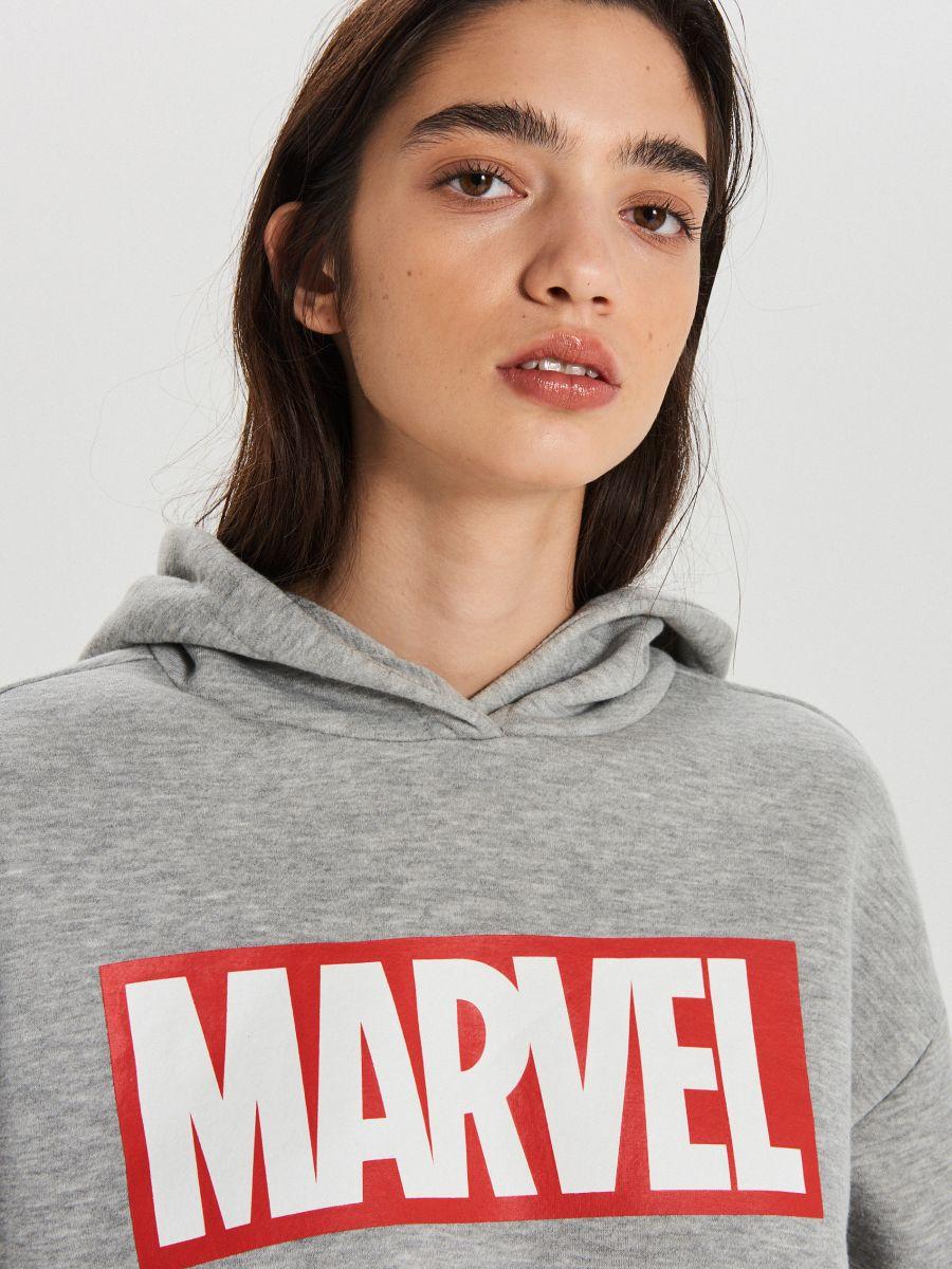 Світшот Marvel - СВІТЛО-СІРИЙ - XT020-09M - Cropp - 2