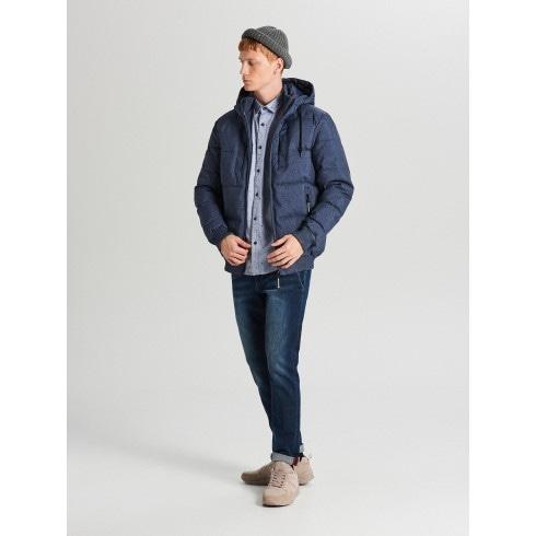 Зимова стьобана куртка з пухнастим оздобленням