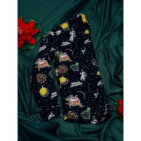 Сорочка з суцільним різдвяним візерунком