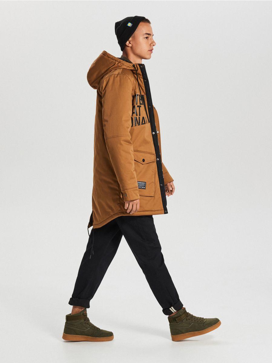 MEN`S COAT - коричневый - WC149-82X - Cropp - 4