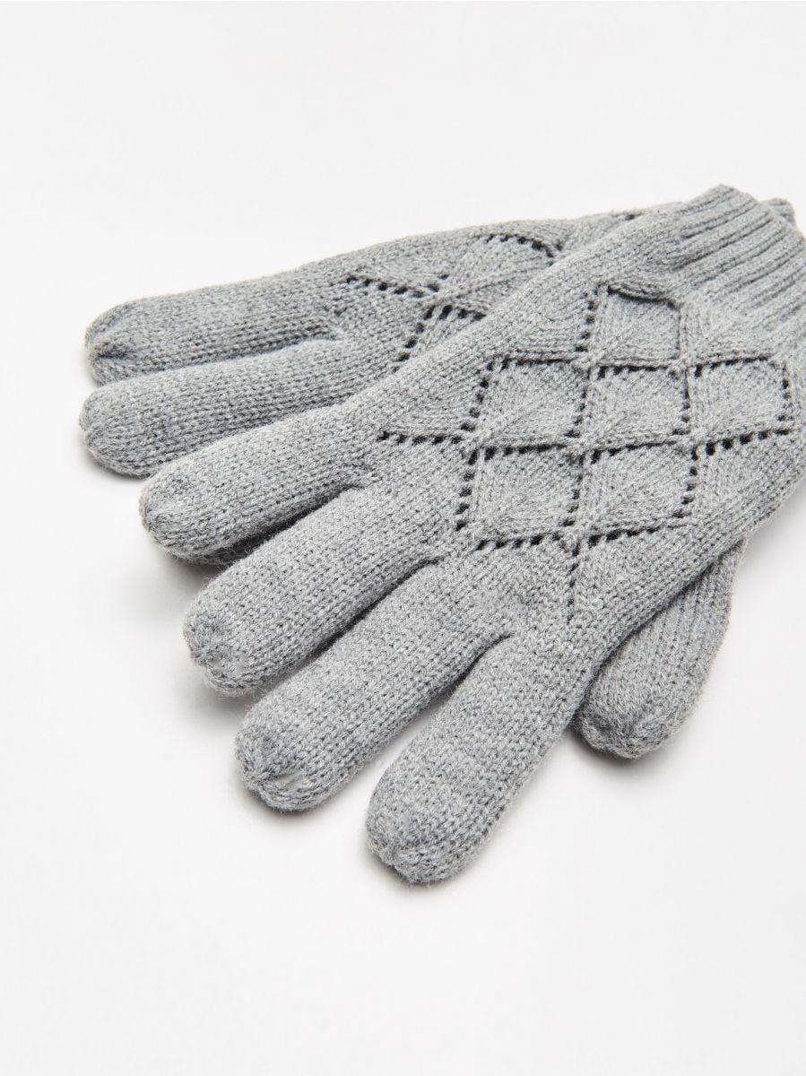 Перчатки на пять пальцев - Šedá - WD990-90M - Cropp - 2