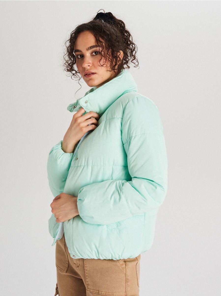 Стеганая куртка с воротником - NIEBIESKI - WG280-05X - Cropp - 5