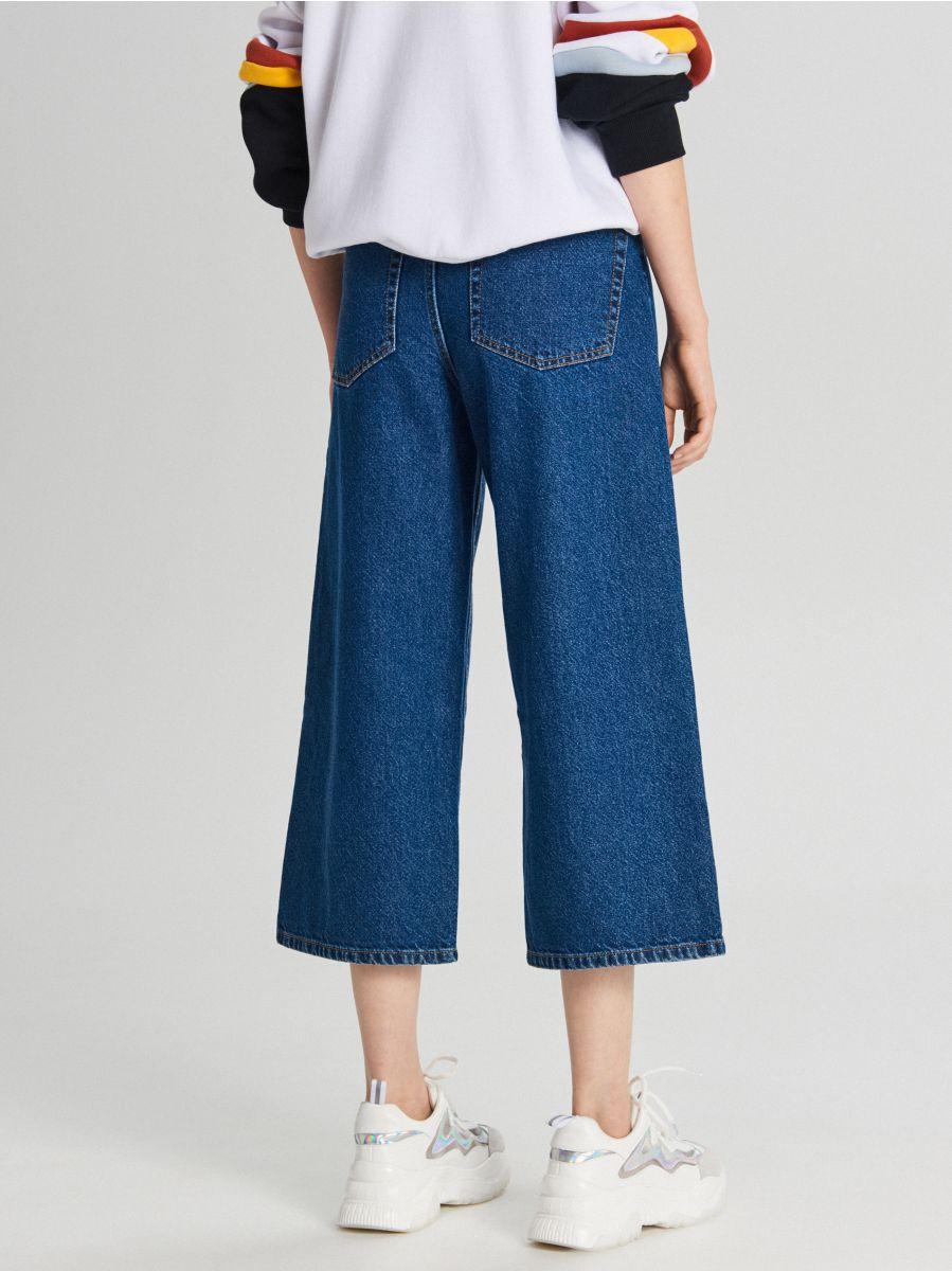 Джинсовые брюки-кюлоты - NIEBIESKI - WI363-55J - Cropp - 4