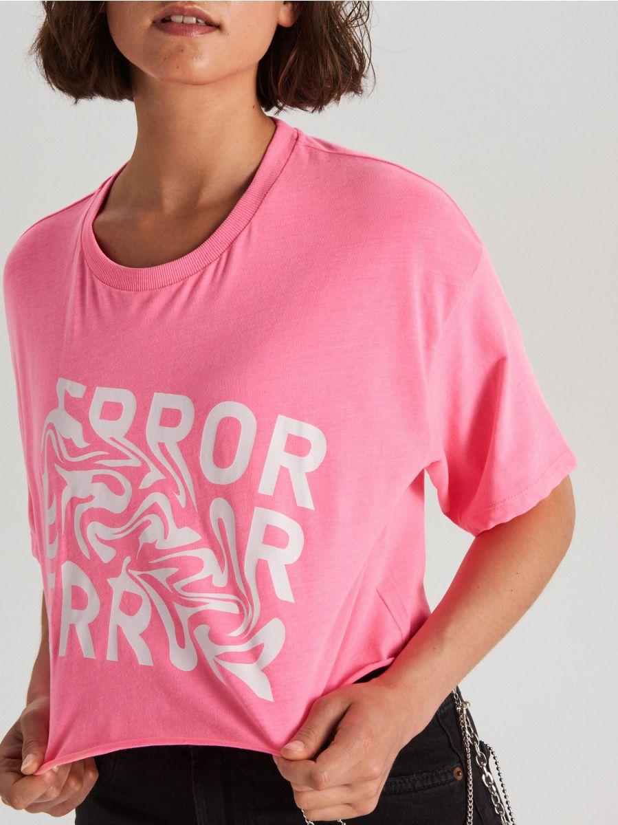 Укороченная футболка oversize с длинными рукавами - ROSA - WV254-43X - Cropp - 2
