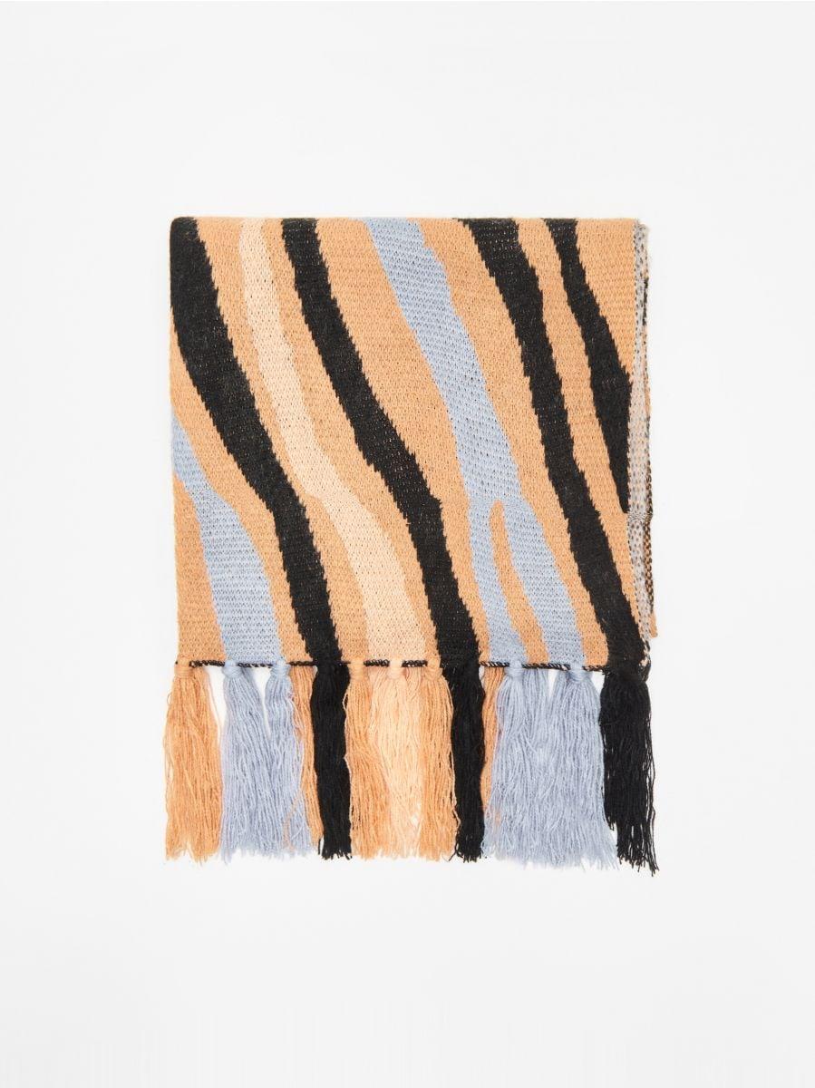 Узорчатый шарф - BÉZS - WZ856-08X - Cropp - 1