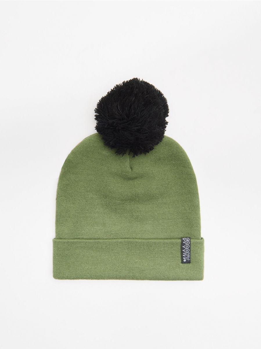 Шапка с помпоном - зеленый - XB518-97X - Cropp - 3