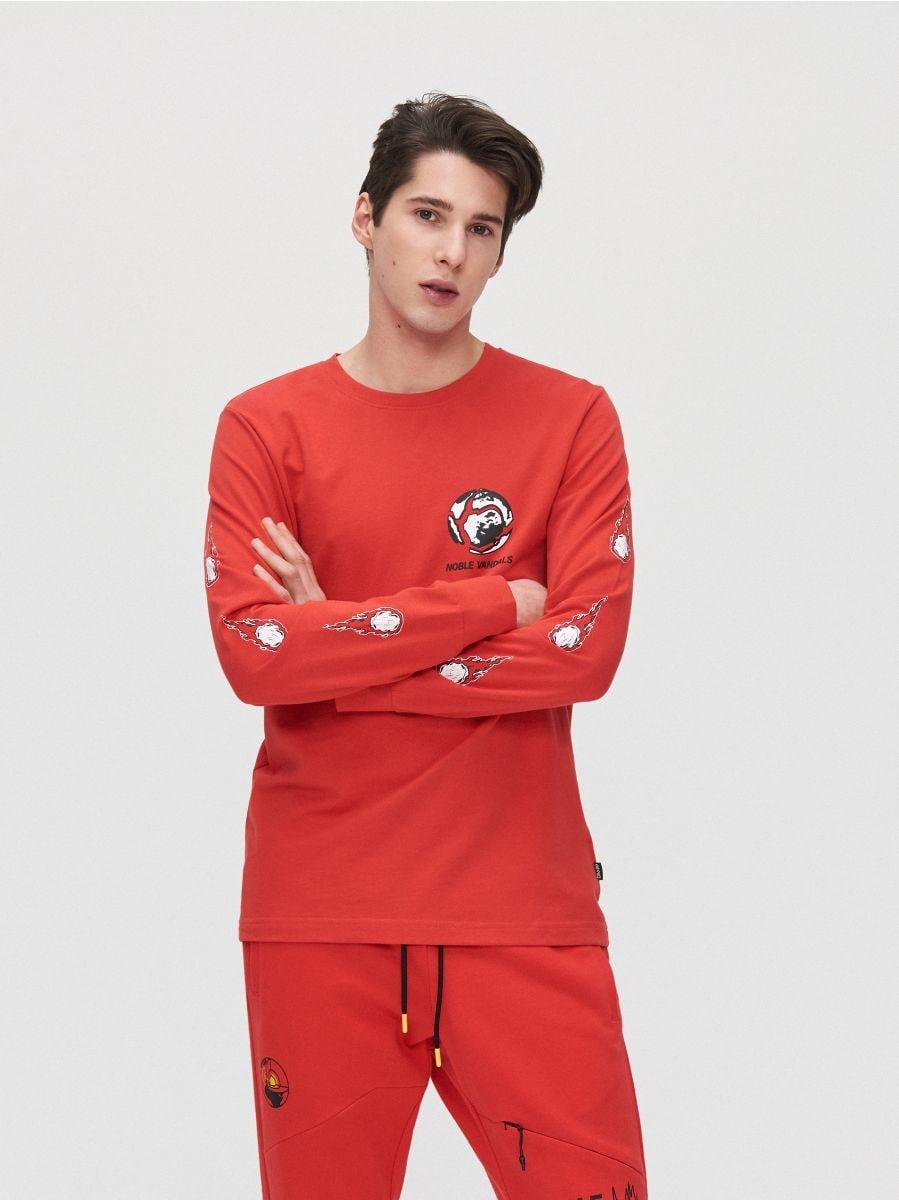 Футболка с принтом на спине - красный - YG152-33X - Cropp - 3