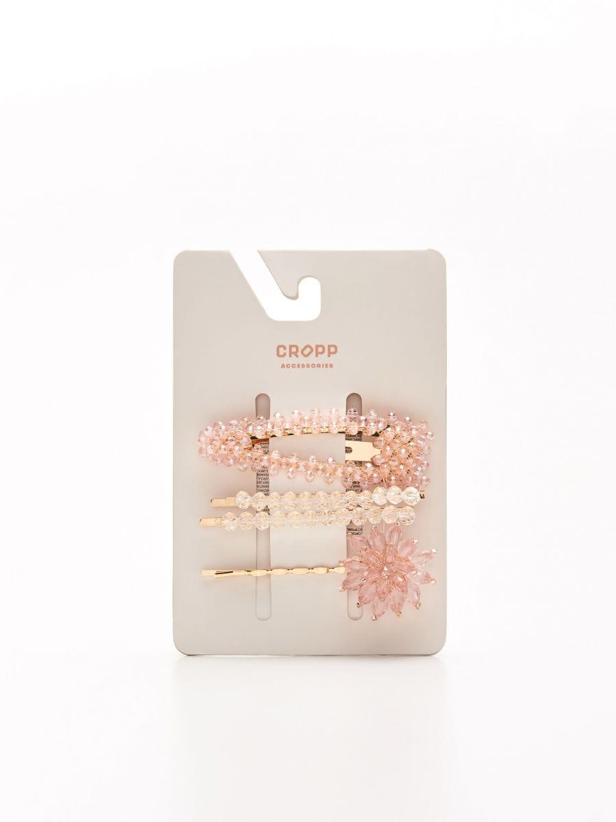 Набор заколок для волос - розовый - YV819-03X - Cropp - 2