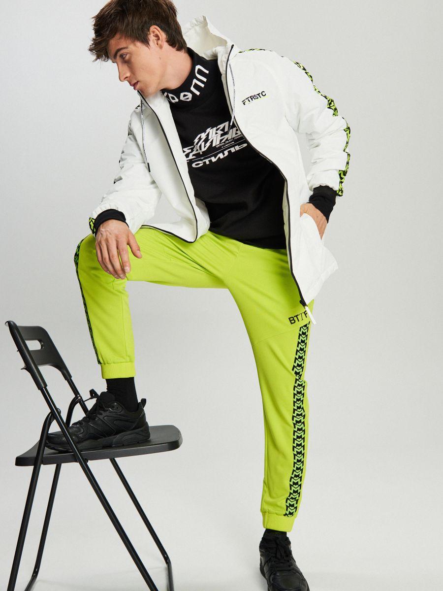 Легка куртка з каптуром - белый - VB079-00X - Cropp - 1