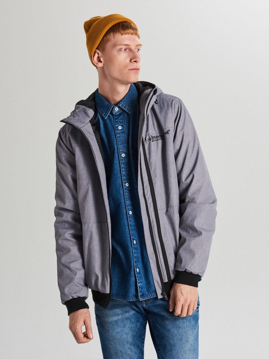 Спортивная куртка с капюшоном - светло-серый - VW264-09M - Cropp - 2