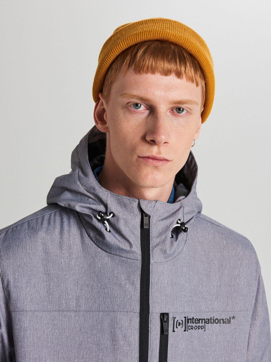 Спортивная куртка с капюшоном - светло-серый - VW264-09M - Cropp - 5