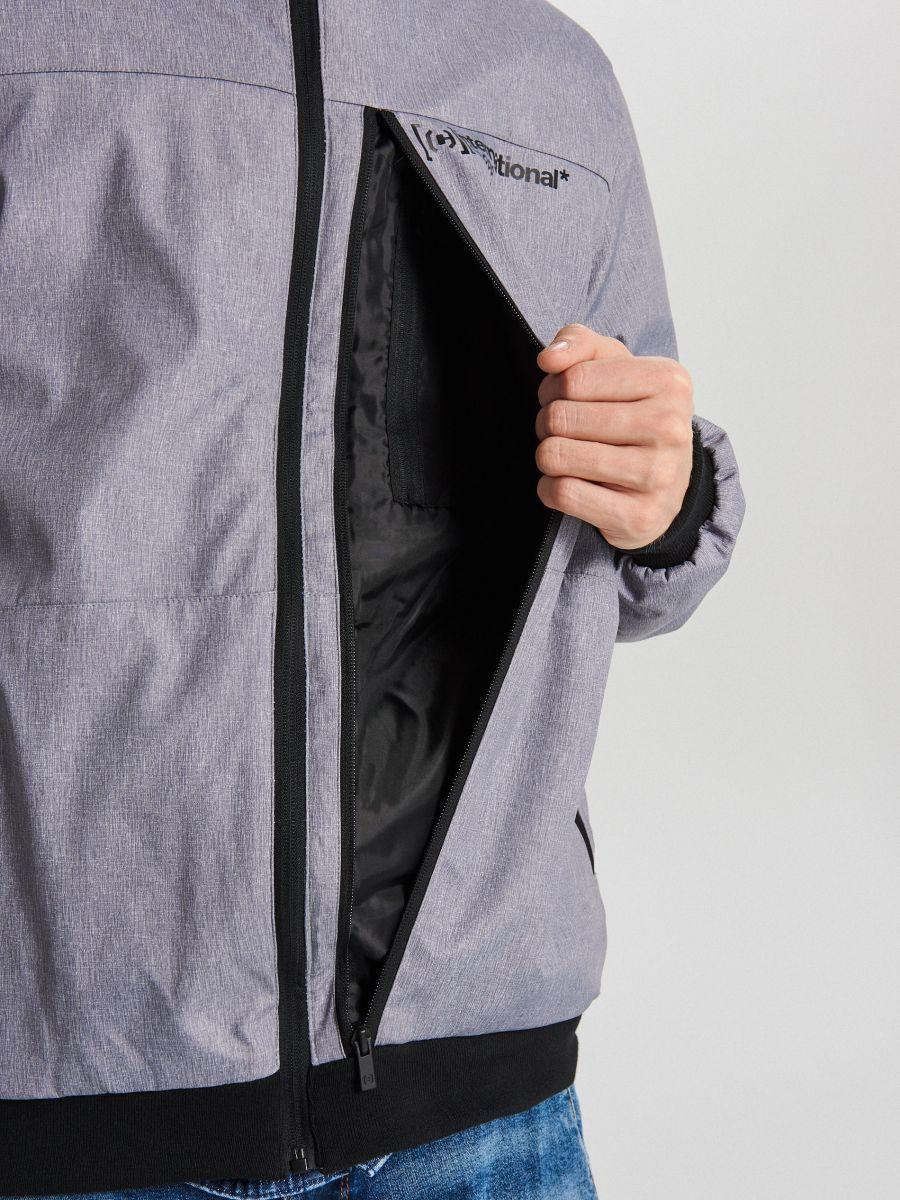 Спортивная куртка с капюшоном - светло-серый - VW264-09M - Cropp - 6