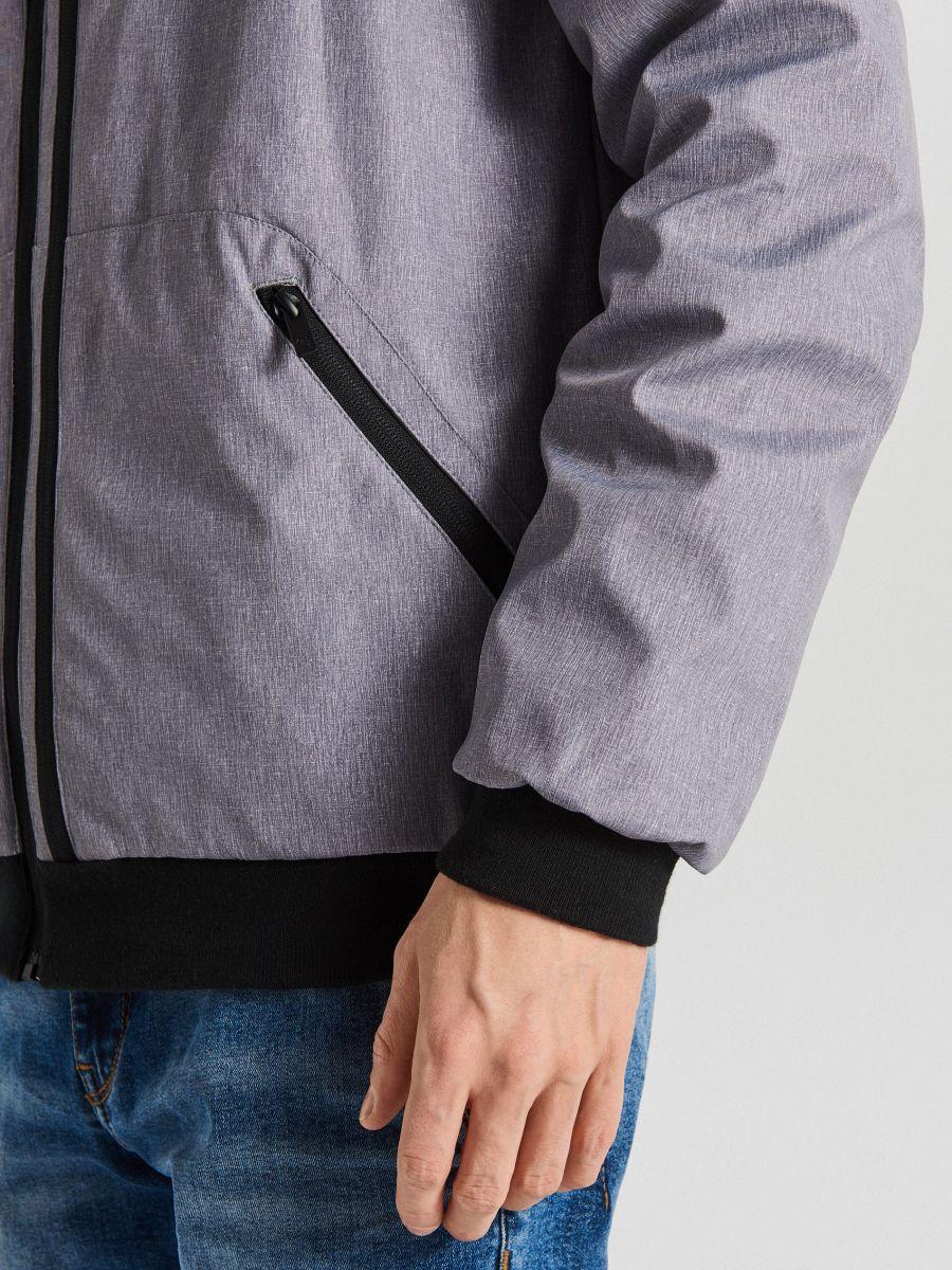 Спортивная куртка с капюшоном - светло-серый - VW264-09M - Cropp - 7