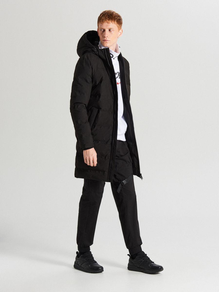 Пальто з каптуром - черный - WC154-99X - Cropp - 2