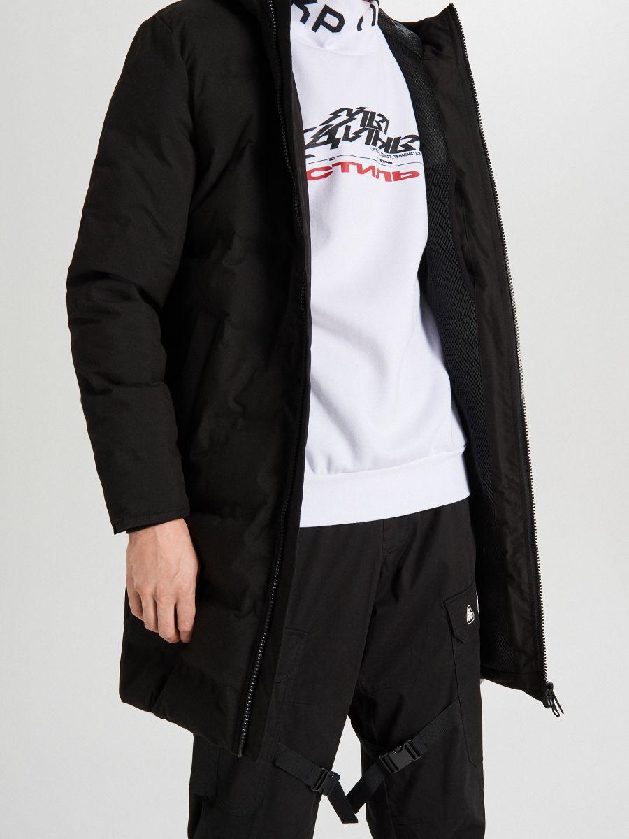 Пальто з каптуром - черный - WC154-99X - Cropp - 7