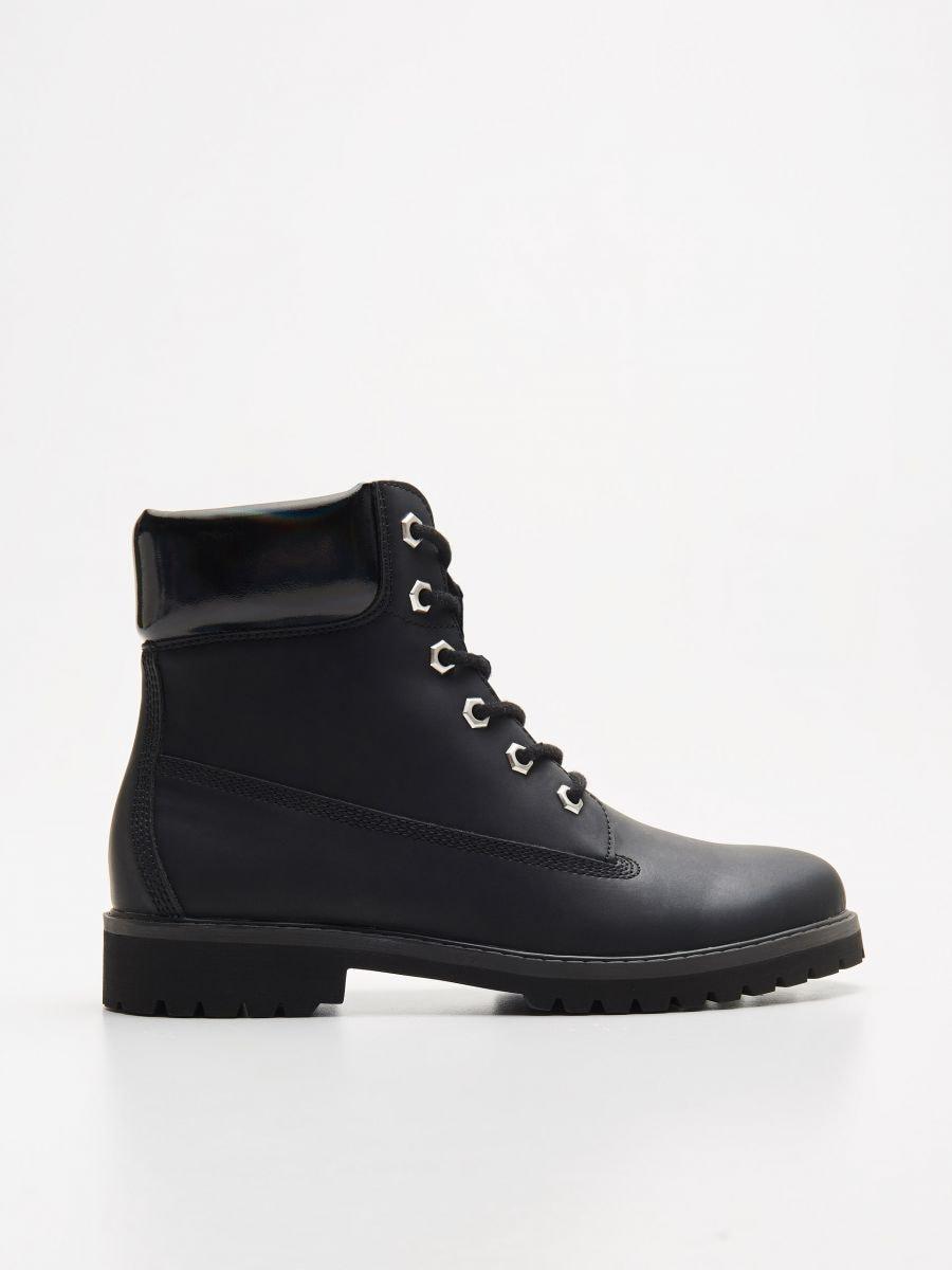 Трапперы с шнурками - черный - WE898-99X - Cropp - 1