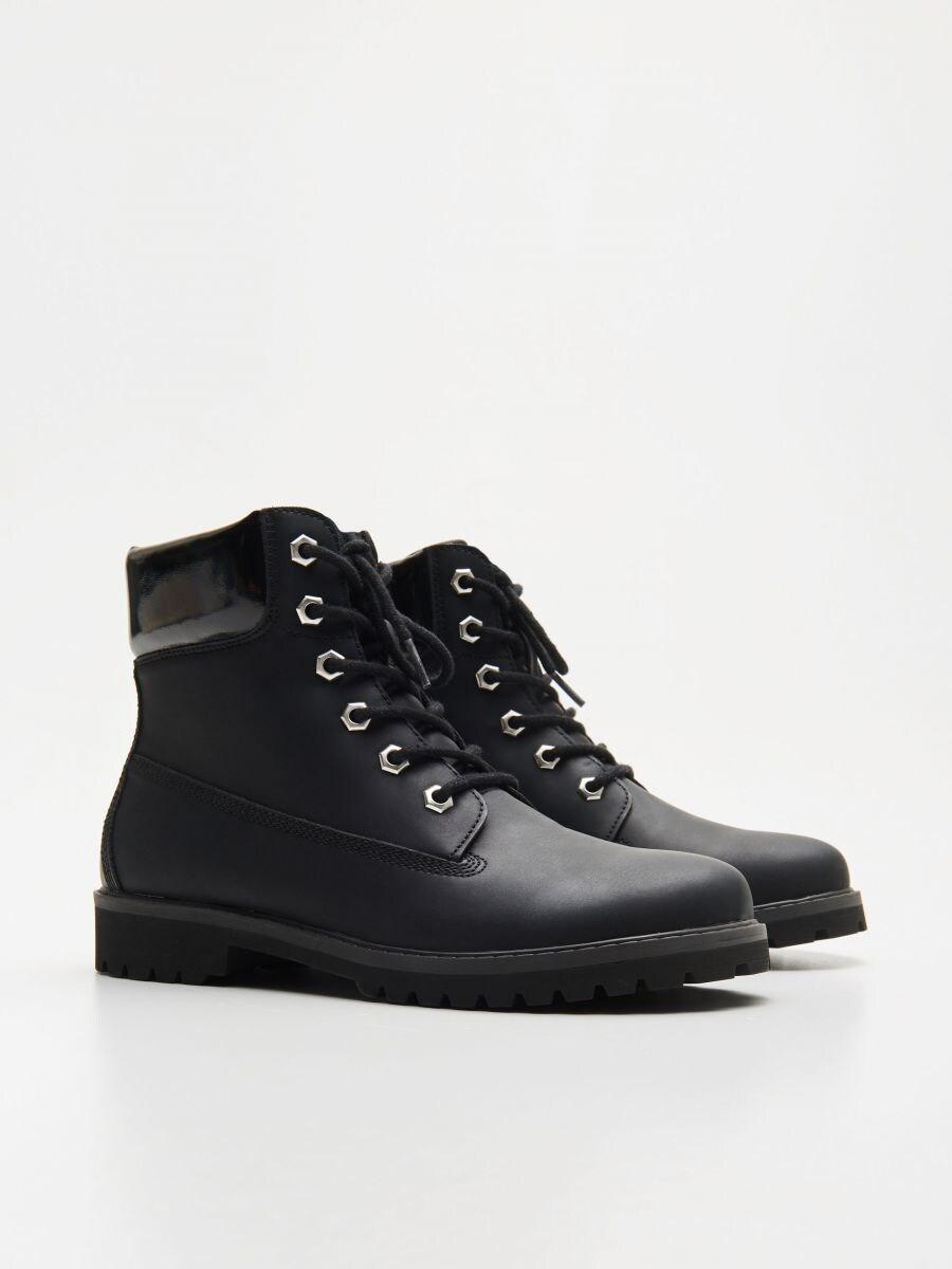 Трапперы с шнурками - черный - WE898-99X - Cropp - 3
