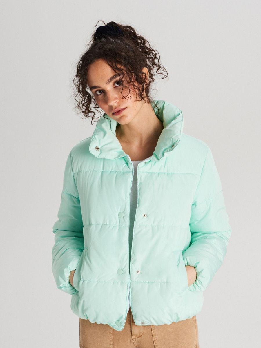 Стеганая куртка с воротником - NIEBIESKI - WG280-05X - Cropp - 1