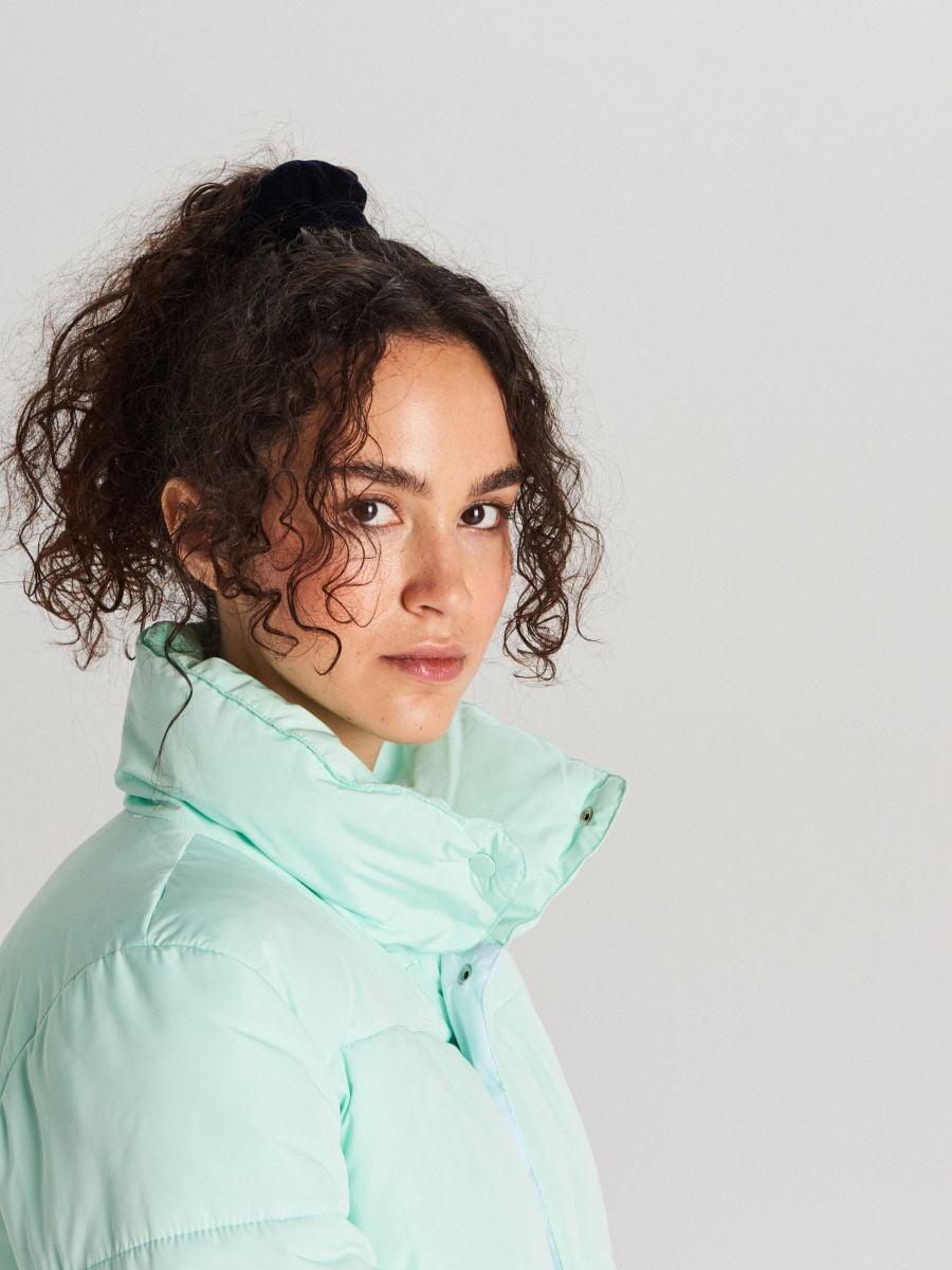 Стеганая куртка с воротником - NIEBIESKI - WG280-05X - Cropp - 4