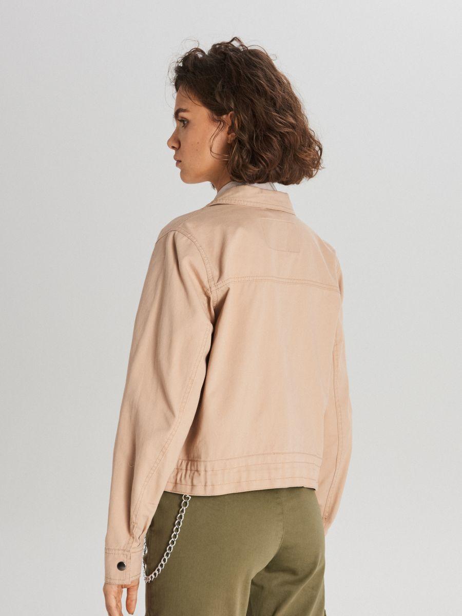 Куртка с карманами - бежевый - WG327-08X - Cropp - 4
