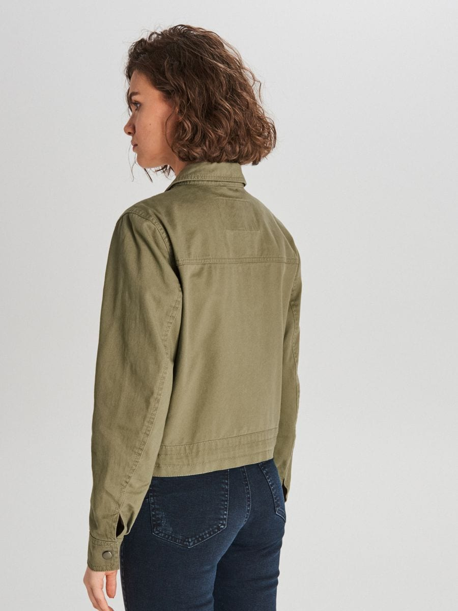 Куртка с карманами - хаки - WG327-78X - Cropp - 4
