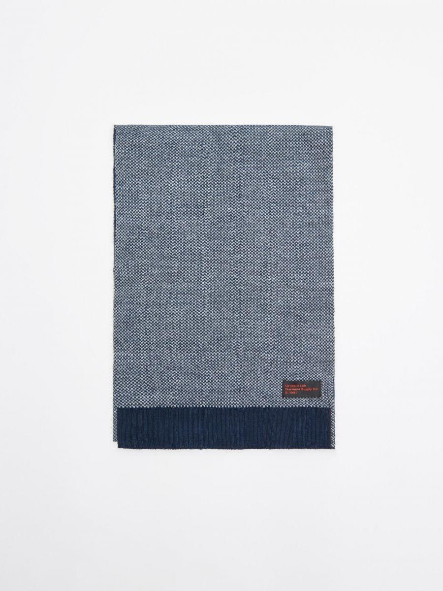 Шарф - темно-синий - WK519-59X - Cropp - 1