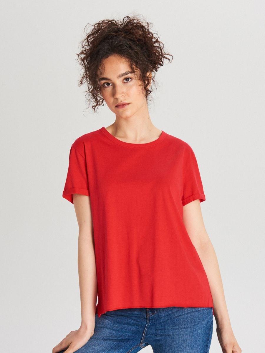 Блуза Basic - красный - WS802-33X - Cropp - 1