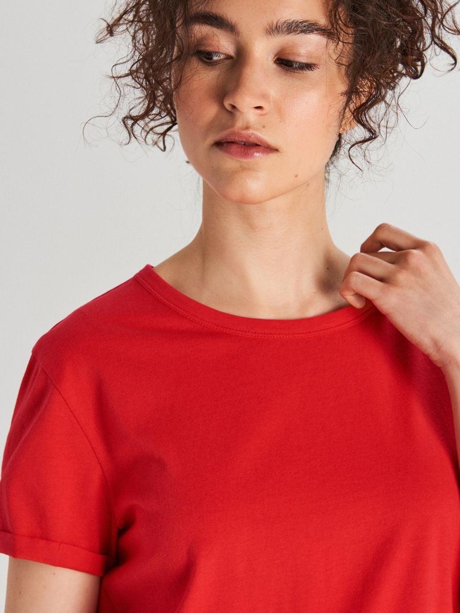 Блуза Basic - красный - WS802-33X - Cropp - 2