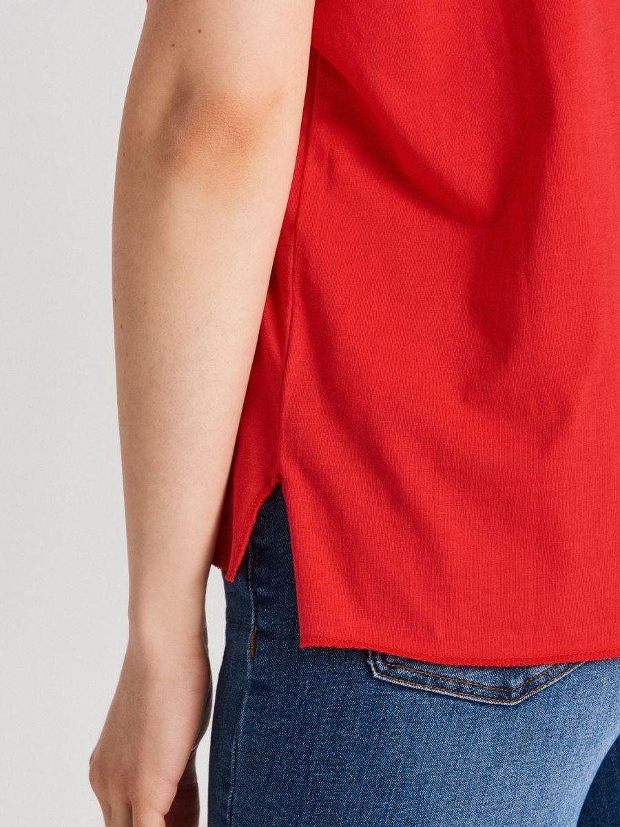 Блуза Basic - красный - WS802-33X - Cropp - 3