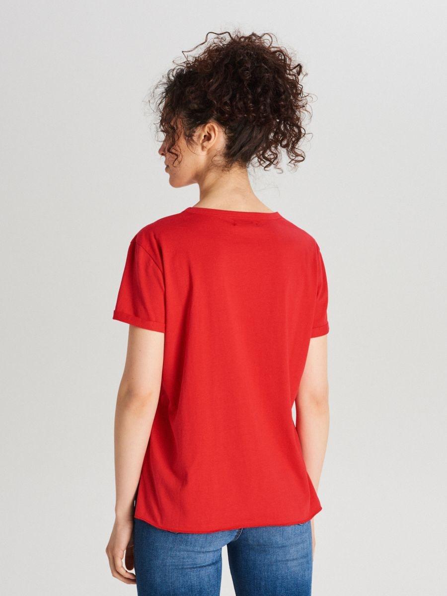 Блуза Basic - красный - WS802-33X - Cropp - 4