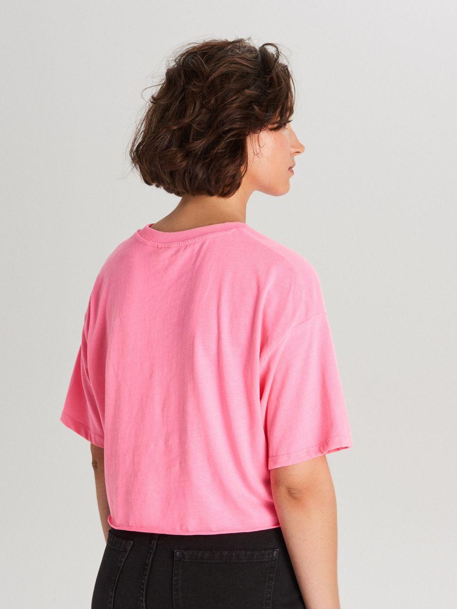 Укороченная футболка oversize с длинными рукавами - ROSA - WV254-43X - Cropp - 3