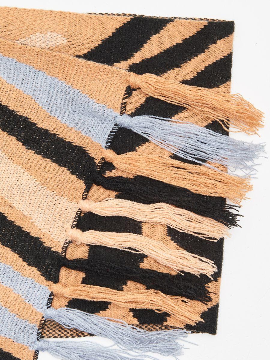 Узорчатый шарф - BÉZS - WZ856-08X - Cropp - 2