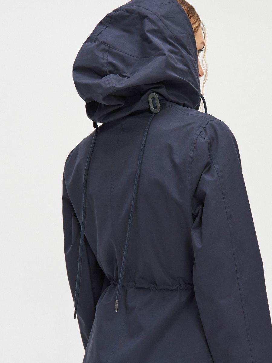 Парка с капюшоном  - темно-синий - XL554-59X - Cropp - 4