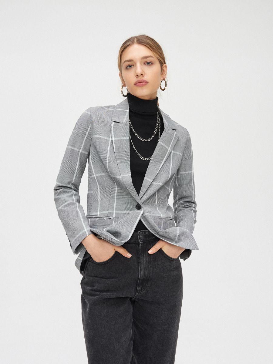 Однобортный пиджак - серый - XL578-90X - Cropp - 1