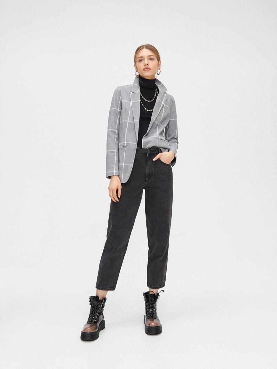 Однобортный пиджак - серый - XL578-90X - Cropp - 2
