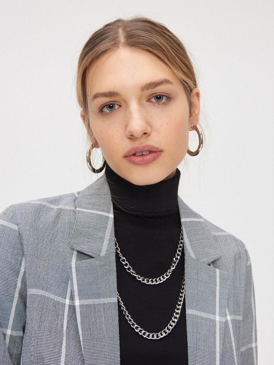 Однобортный пиджак - серый - XL578-90X - Cropp - 3
