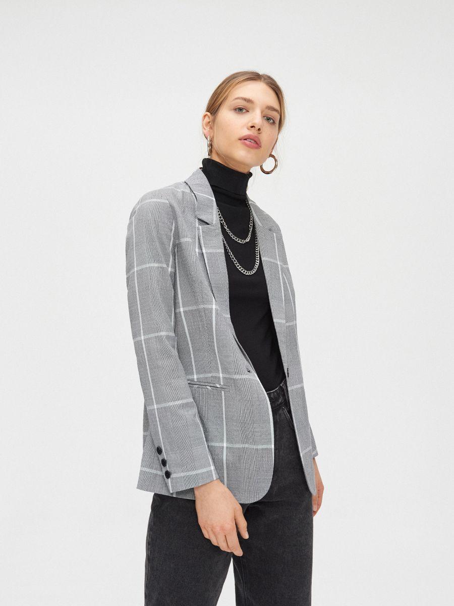Однобортный пиджак - серый - XL578-90X - Cropp - 4