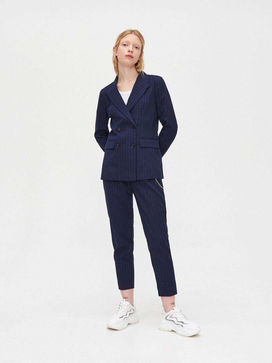 Двубортный пиджак - темно-синий - XL583-59X - Cropp - 1
