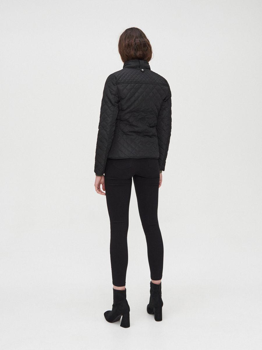 Легкая стеганая куртка - черный - XL591-99X - Cropp - 5