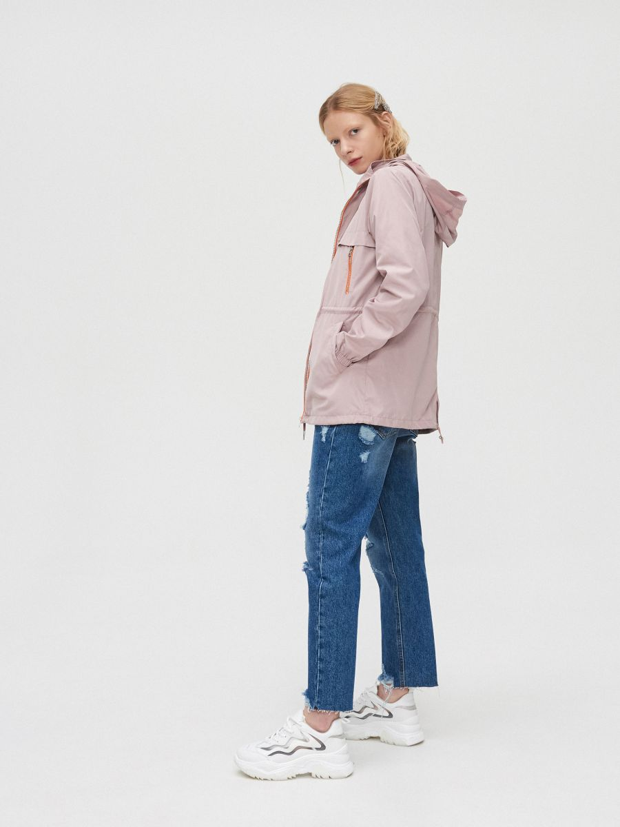 Легкая куртка-дождевик - розовый - XL598-39X - Cropp - 1