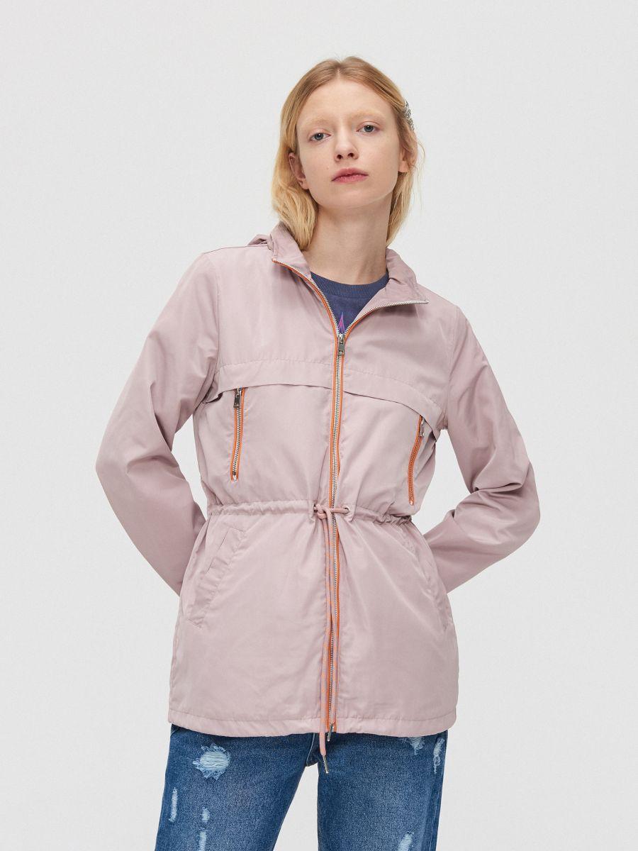 Легкая куртка-дождевик - розовый - XL598-39X - Cropp - 2