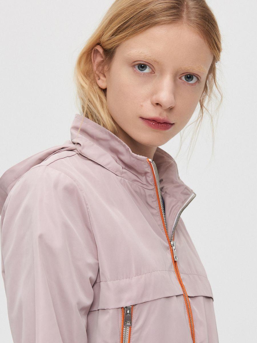 Легкая куртка-дождевик - розовый - XL598-39X - Cropp - 3